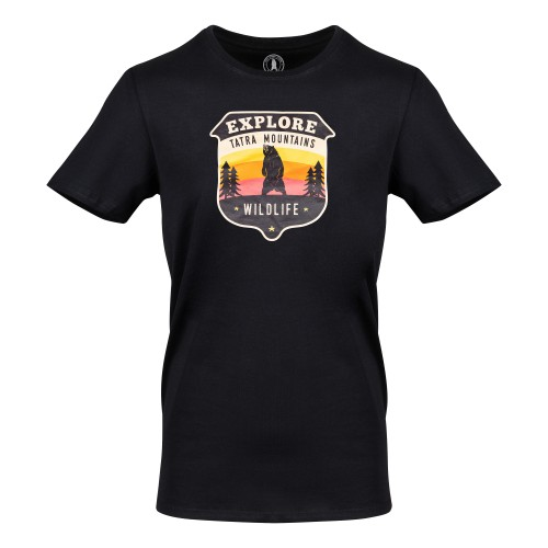 T-shirt Awesome Tatras Tee Man Black